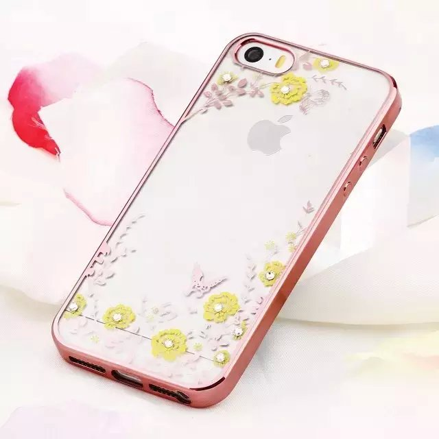 TPU electroplated phone case luxury ultra thin soft clear phone cases back covers for mobile phones for iPhone 5 5s se