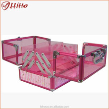 Professional Beauty Hair Stylist Acrylic Train Cases For Makeup