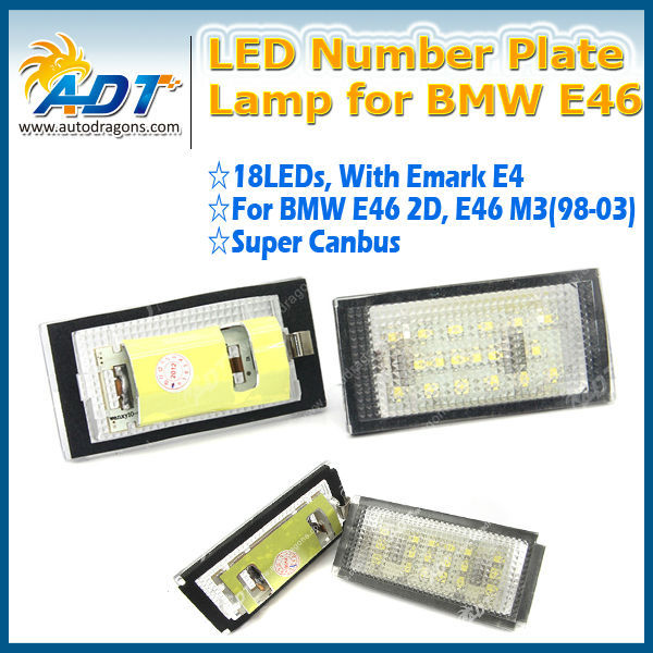 Emark Certification For BMW E46 License Plate LED Number Plate Lamp