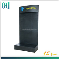 1000*450*2000mm metal hook store display stand for supermarket with pvc light box
