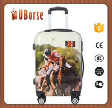 Hot selling abs/pc travel luggage bag luggage cabin size printed hard shell luggage bags cases