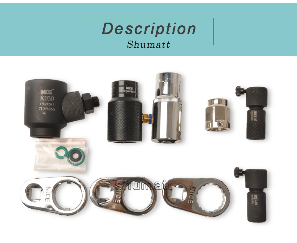 CUMMIN diesel engine CR injector disassembly assembly tool Solenoid valve nozzle oil collector full set