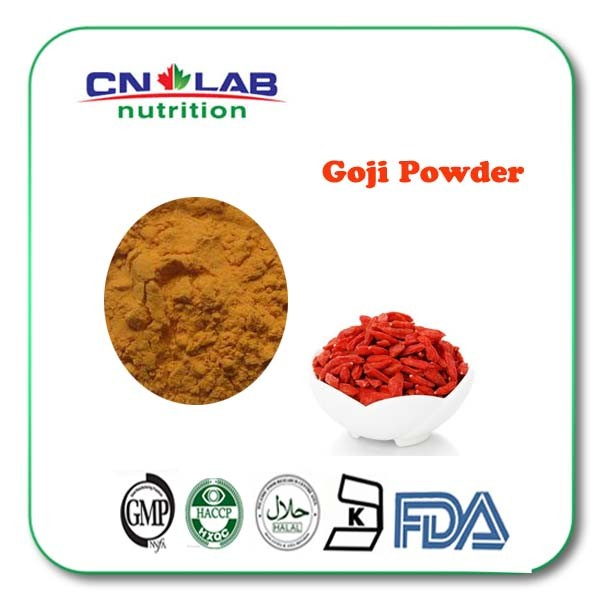 Fresh dried organic goji berries extract