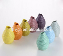 high design European style home decoration mini ceramic vase in different colors