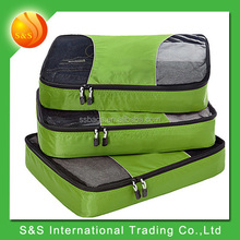 3 Set Packing Cubes Travel Organizers with Laundry Bag
