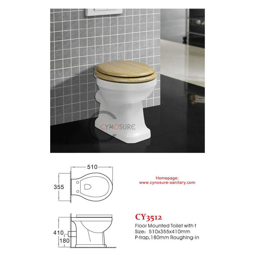 CY3512FM cynosure cheap new design wc bathroom floor mounted toilet