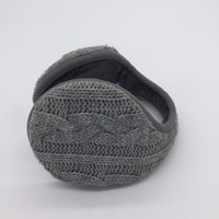 The winter warm male Plush ear earmuffs cover after wearing the ear bag folding knitting antifreeze earmuffs
