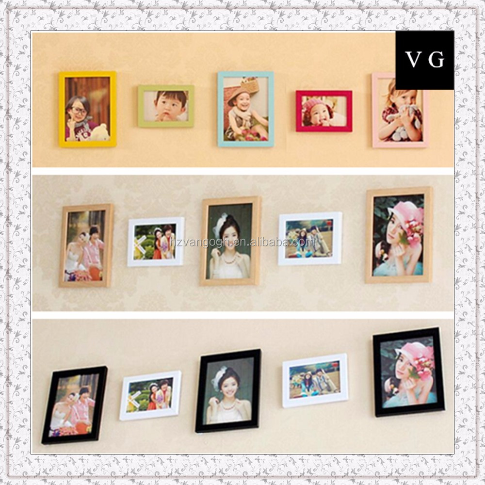 Custom design 5 frames picture wall with beautiful picture