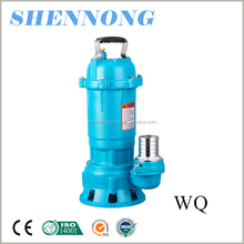 good quality wire WQ series sewage submersible pump for irrigation