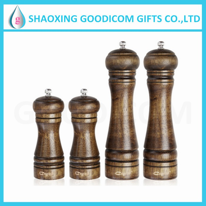 amazon hot sell custom wooden pepper grinder