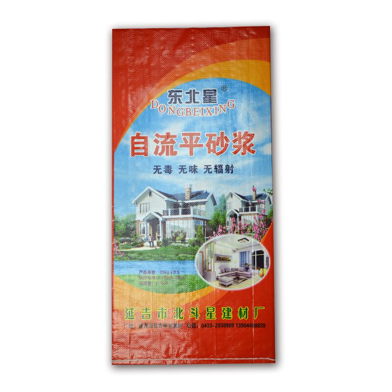 25 kg high quality woven bag with color printing for mortar, cement packaging