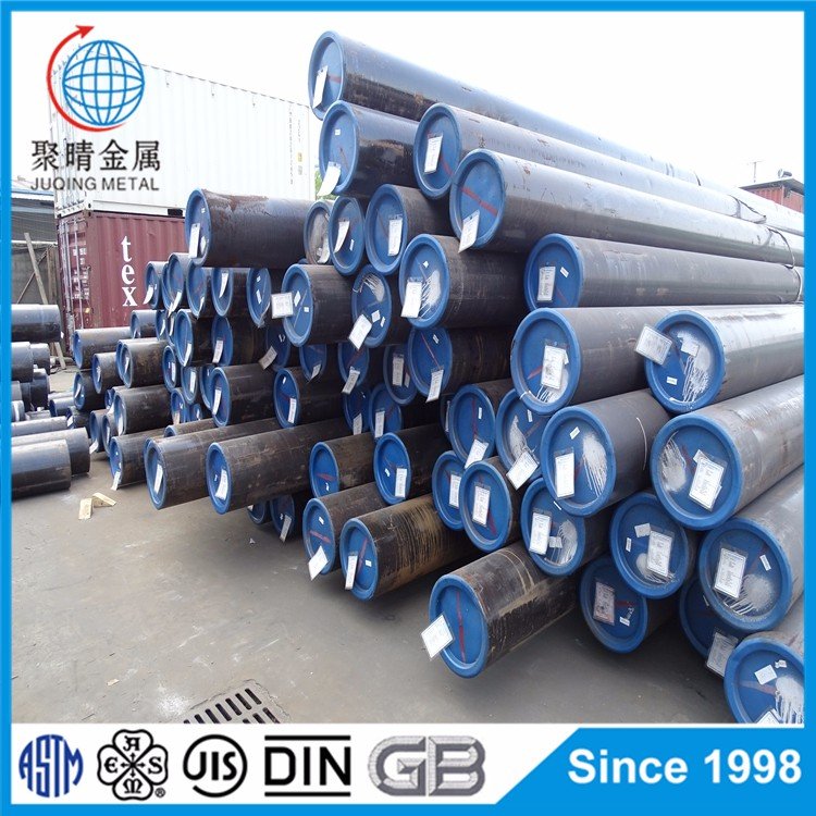 Hot rolled ASTM A106 GR.B seamless steel pipe from ABS approved mill