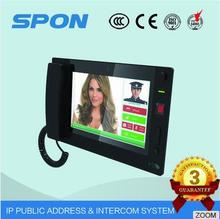 "IP based video interphone for control center with 10.1"" LCD touch screen and COMS camera , support SIP ,POE, and ONVIP"