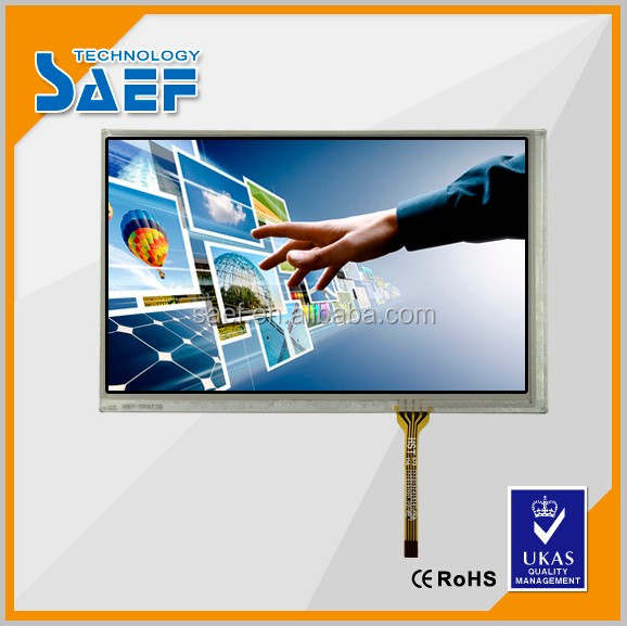 800*480 color screen 7inch tft lcd module with resistive touch panel lcd