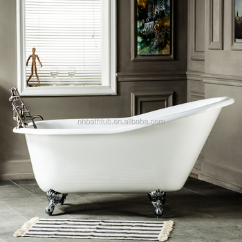 cast-iron slipper bathtub