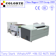 Output 70pcs plates uv ctp machine for high speed printing machine