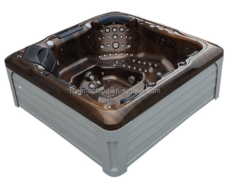 Acrylic Massage Bathtub Outdoor SPA Hot Tubs for 4 Persons