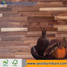 3D Solid wood wall panel walnut wall panel