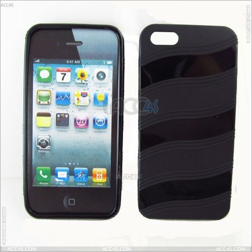 Gentle Wavy lines shape TPU case for Iphone 5 P-IPH5TPUO010