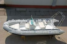 2016 popular rib boat outboard inflatable motor rubber boat 4.3m boat