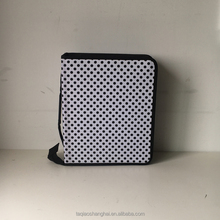 Fashion dot A4 storage bag/folder with PP insert