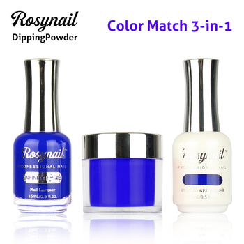 hot selling 3 in 1 gel polish matching dipping powder nails system