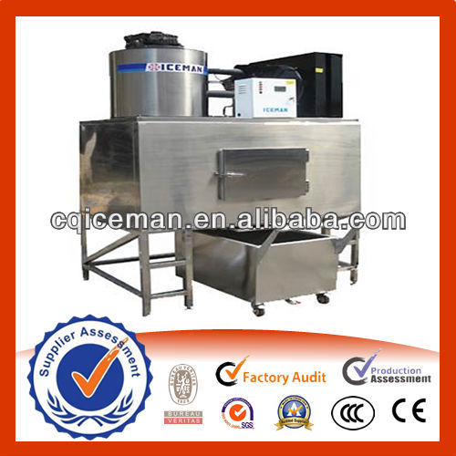Energy Saving and Durable Flake Ice Machine with Automatic PLC Controlled