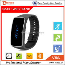 Health analyzer wrist band V5S bluetooth smart bracelet 0.91 inch OLED screen with remote camera sports pedometer function