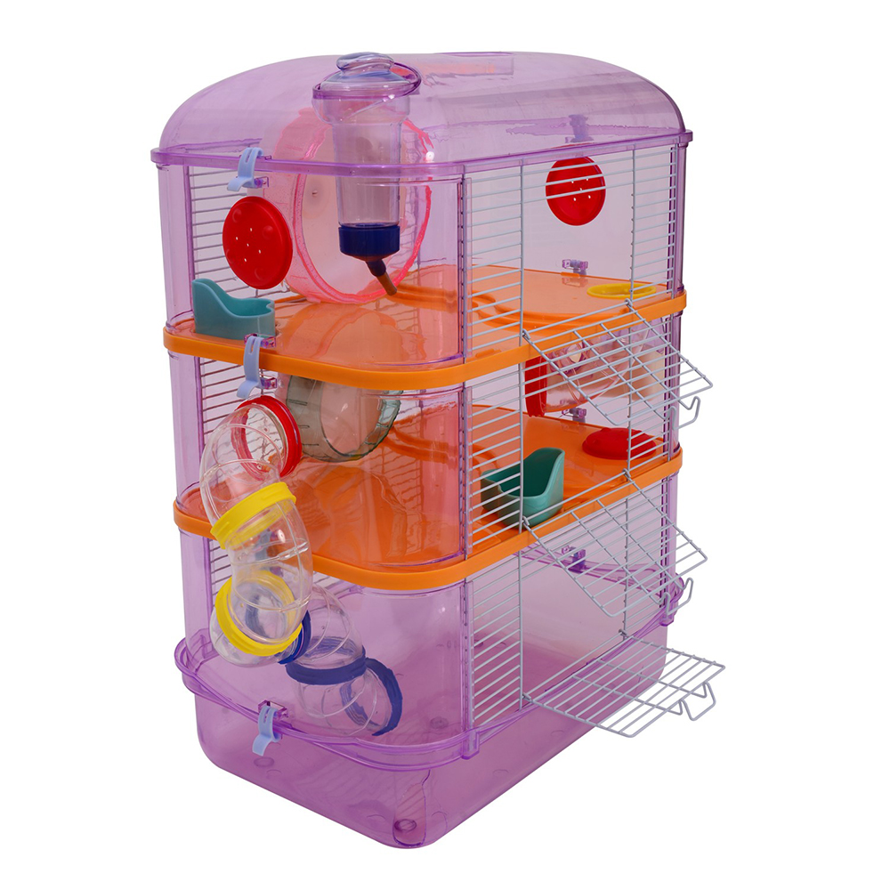 3 Levels Hamster Habitat Cage with Tubes