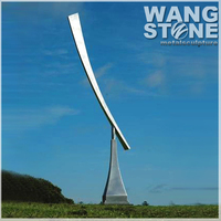 Large Stainless Steel Metal Decoration Garden Windmill