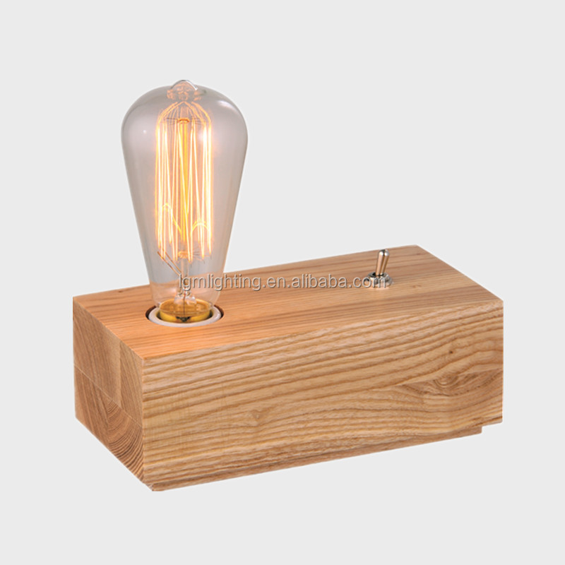 Modern simplism style wood table lamp for marriage decorative desk lamps