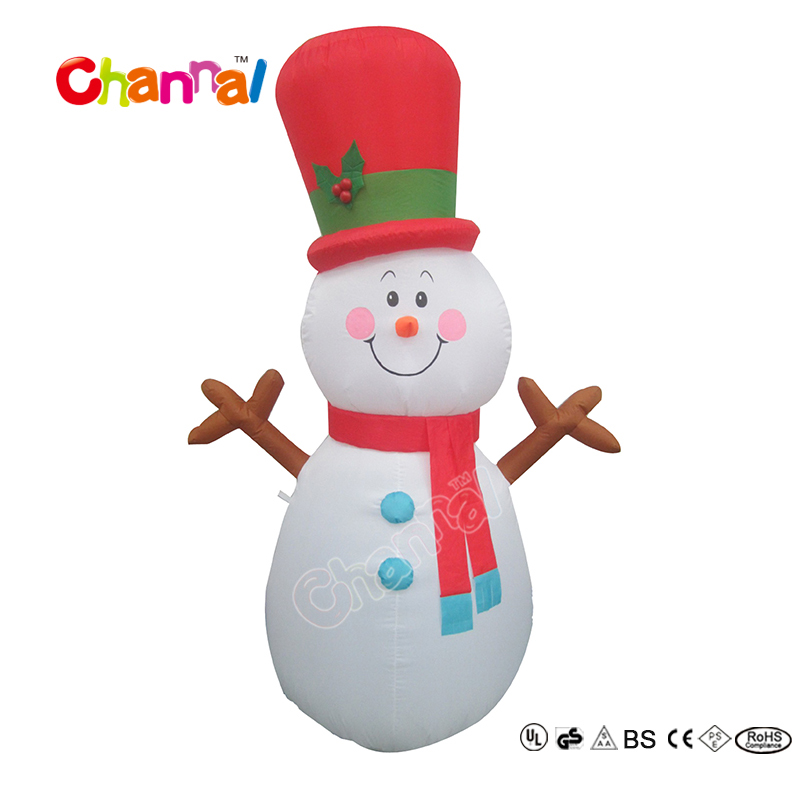 2017 New Product 4ft Led Inflatable Snowman for Christmas Decorations