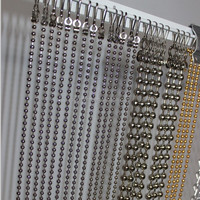Wall covering hanging metal beads curtain