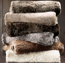supersoft heated faux fur plush throw for sofas