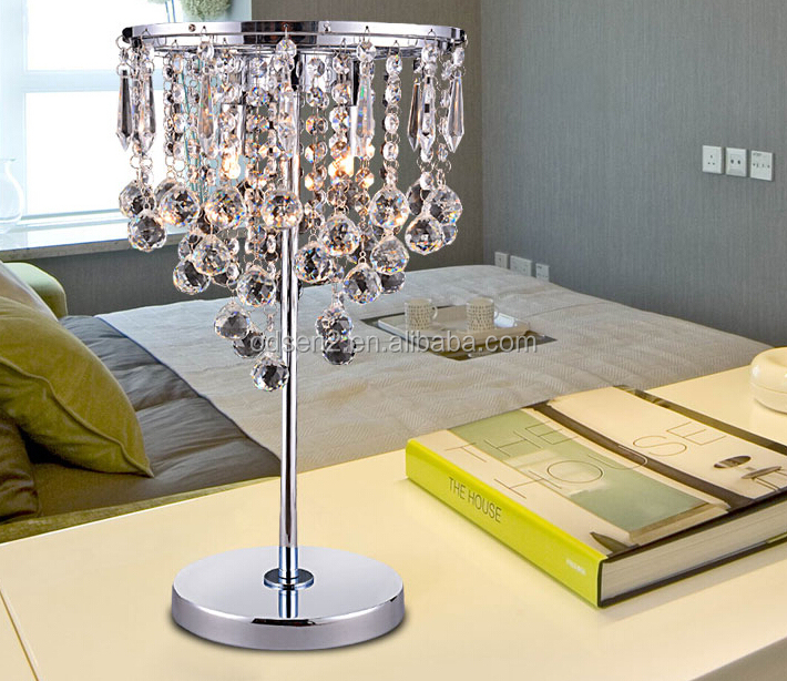 cheap crystal home goods wholesale table lamps