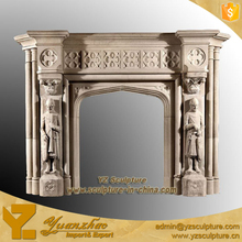 Botticino Classical indoor Stone marble Fireplaces Mantel