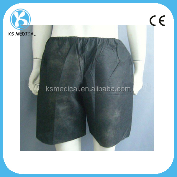 Disposable nonwoven medical examination pants