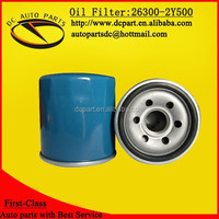 Oil filter 26300-2Y500 for HYUNDAI