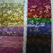 2013 new glitter materials to make sandals(pu leather from China)