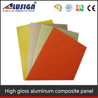 High quality corrugated aluminum roofing acp panels and interior decorative panel internal cladding aluminum composite sheet