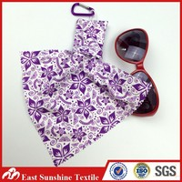 Wholesale Microfiber Keychain Bag with Microfiber Sunglasses Cloth