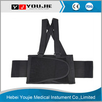 Wholesale elastic breathable double pull lumbar support belt with shoulder strap