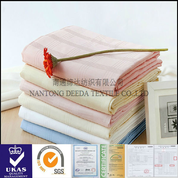 dobby check 300T double sided cotton fabric