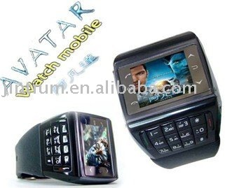 Watch mobile phone ET-1 with stereo bluetooth headset and 1GB card