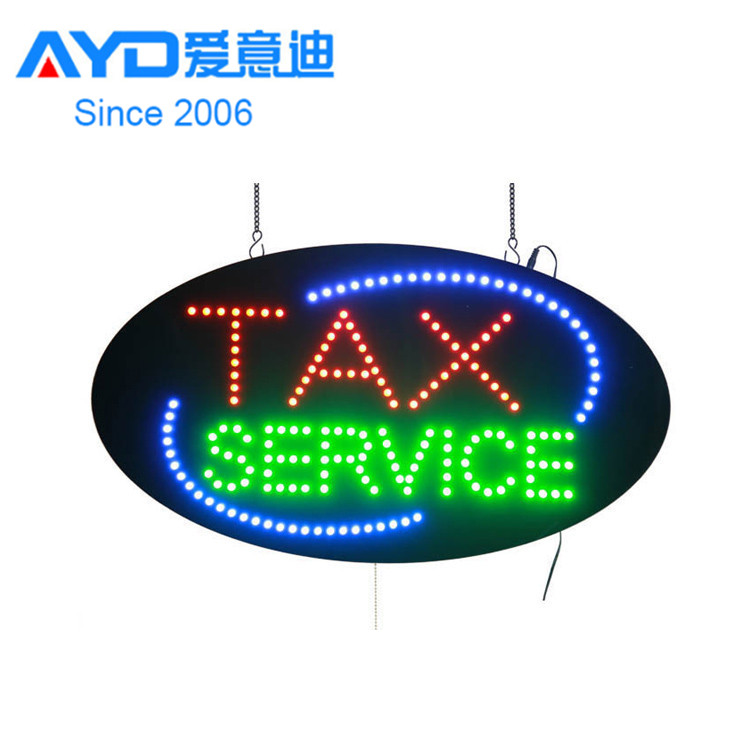 Acrylic Flasher Advertising Light Boxes Tax <strong>Service</strong> LED Moving Sign Factory Supplier