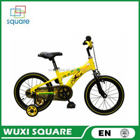 "2016 Latest Hot selling 2 wheels Kid Bike/children bicycle with basket and training wheels for boys and girls gifts 16"" children"