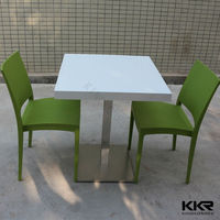 60 x 60 small solid surface dining table square