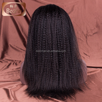 Natural looking Unprocessed Virgin Human Hair Lace Wig Top Selling 20 inch Brazilian Hair Kinky Straight Human Wig