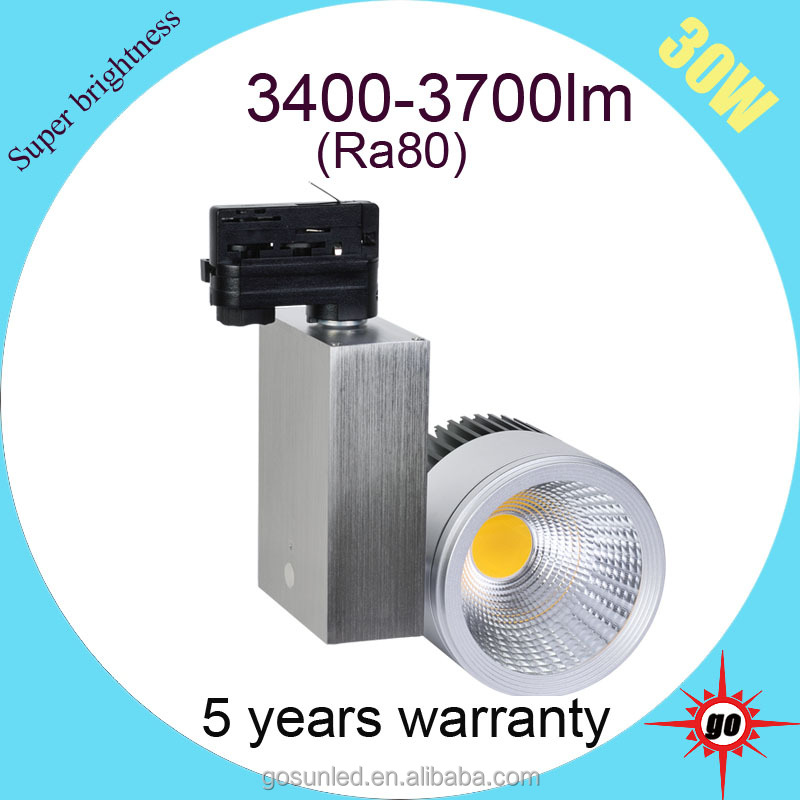 best quality high power 3300-3700lm Ra 30W LED Track spot Light replace 75W metal halide lamp