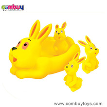 Best selling cartoon rubber rabbit toys for baby